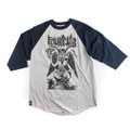 CAMISETA FOURSTAR 3/4 RAGLAN GREY HEATHER BLUE