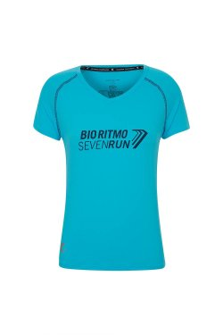 Camiseta Atleta Seven Run 2018 Mc Fem Azul