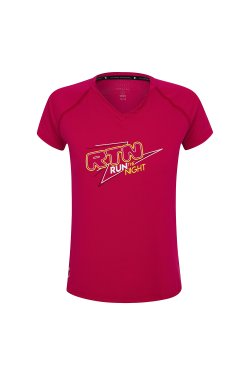 Camiseta Run the Night Cereja Fem