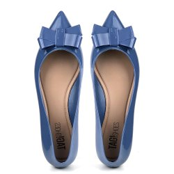 Sapatilha Tag Shoes PVC Bico Fino Colors Azul