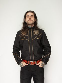 Camisa Acid Flame Black