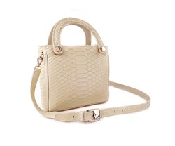 BOLSA KELLY MINI PYTHON BLUSH