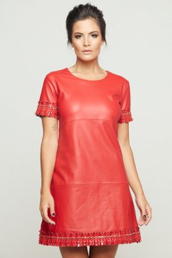 VESTIDO VICKY TWEED ROUGE