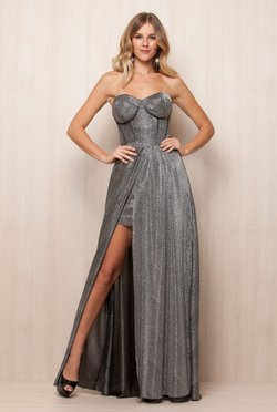 Vestido Longo Silver Night