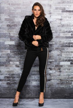 Casaco Fake Fur Black