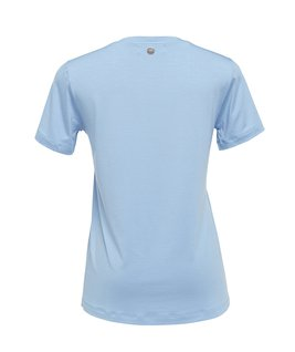 T-SHIRT GOLA CARECA MODAL - LIGHT BLUE