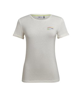T-SHIRT GOLA CARECA LINHO - OFF WHITE STRONGER TOGETHER