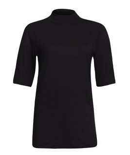 T-SHIRT GOLA TURTLENECK MODAL - PRETO