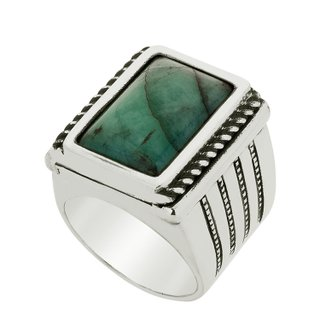 Anel - Taye 100% Prata e Esmeralda | Ring – Taye 100% Silver and Emerald