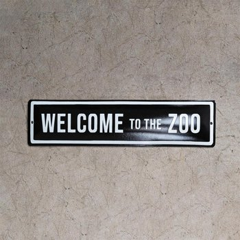 Placa Welcome to the Zoo