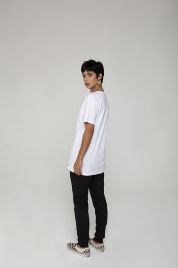 Camiseta Long White