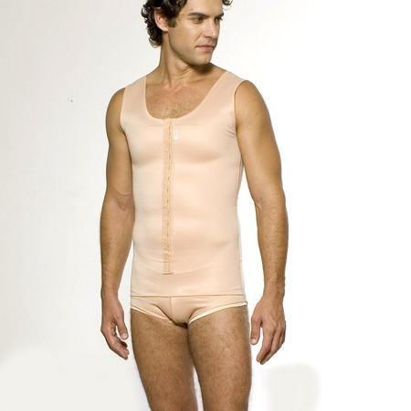 bbee803a1a4ba4 Cinta Modeladora Masculina Sem Pernas com Fecho Frontal em Colchetes Macom