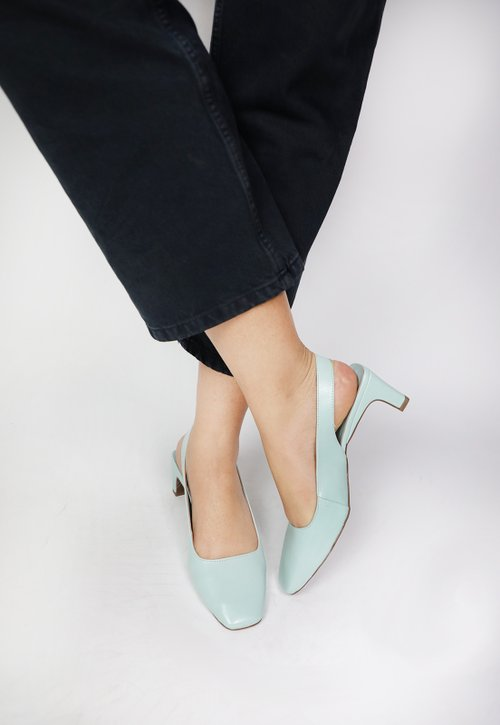 GEORGINA shoes - verde claro (vegan)