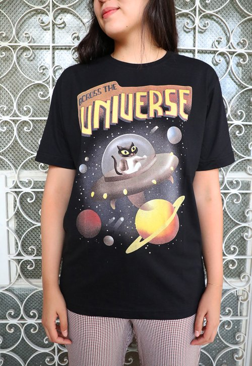 ACROSS THE UNIVERSE t-shirt - preto (unissex)