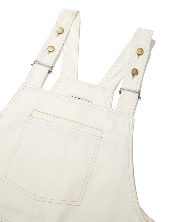 Jardineira Worker Feminina Off White