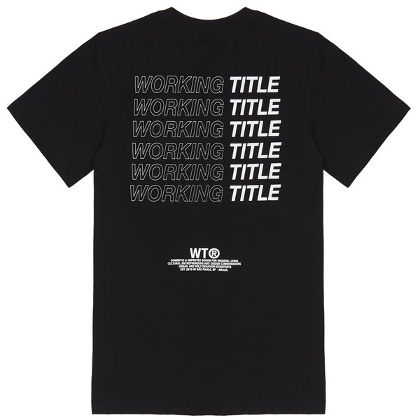 CAMISETAS WORKING TITLE PRETA