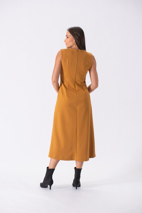 VESTIDO MIDI DOUBLE FIT