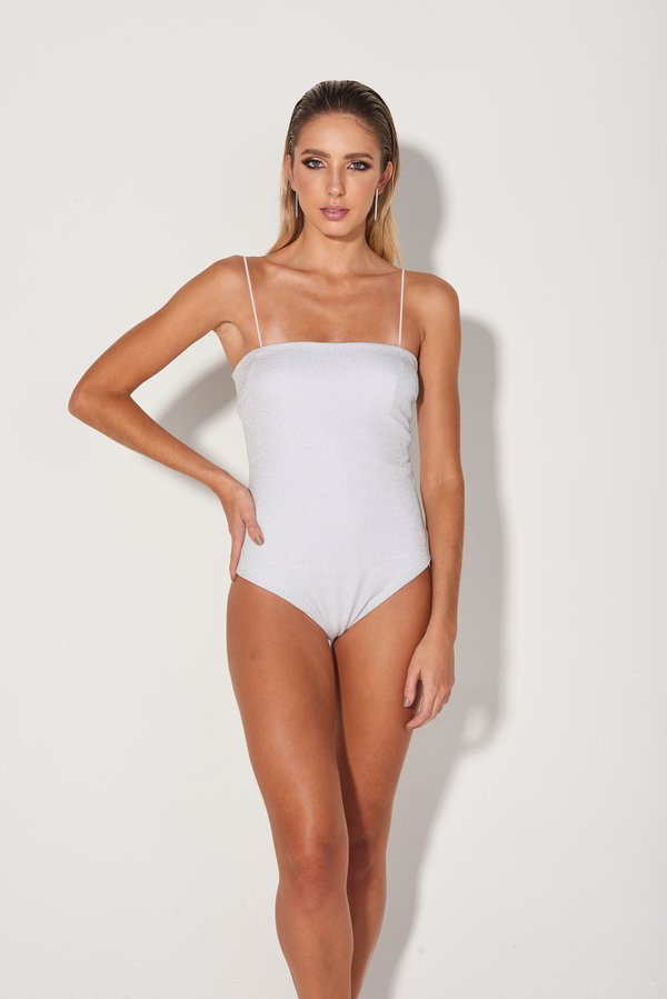 Foto do produto Body Line Lurex Prateado  | Line One-Piece Silver Lurex