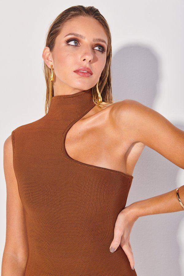 Foto do produto Body Tricot Perli Marrom | Perli Tricot One-Piece Brown