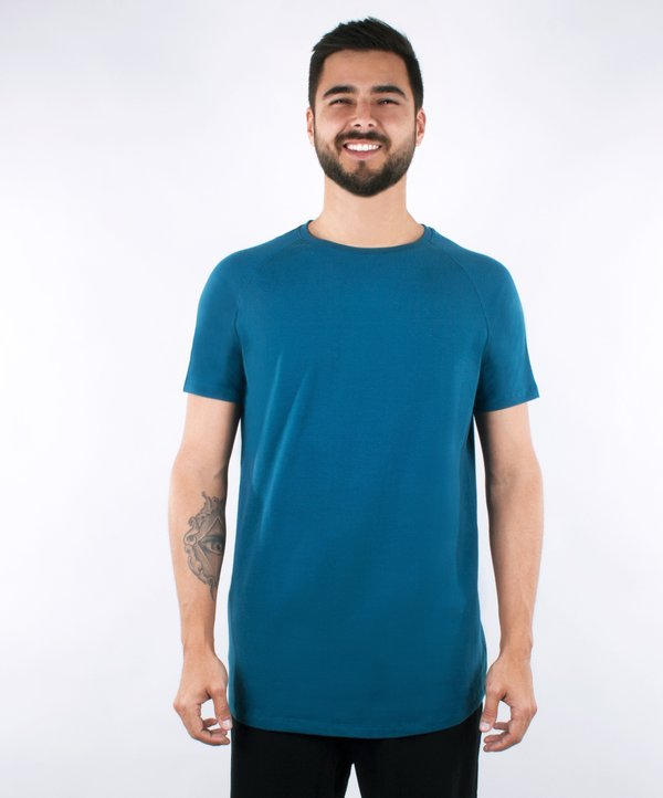 Camiseta Cotton Edge - Azul
