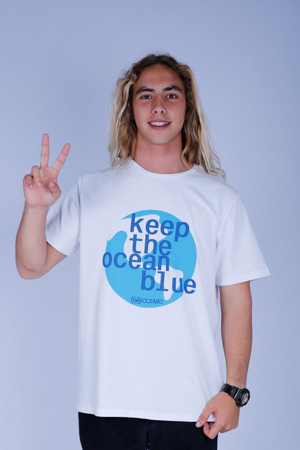 CAMISETA OCEANO LOGO KEEP RECICLE