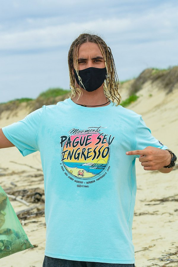 CAMISETA OCEANO MOVIMENTO PAGUE SEU INGRESSO