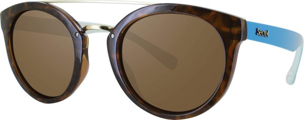 ÓC SECRET QUEENS HAVANA TURTLE/TEAL / POLARIZED BROWN