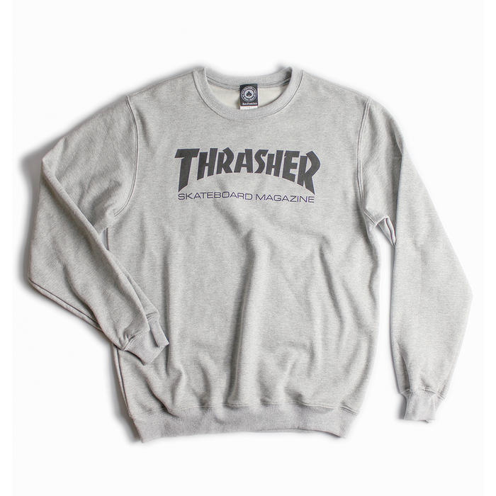 MOLETOM THRASHER SKATEMAG GREY HEATHER