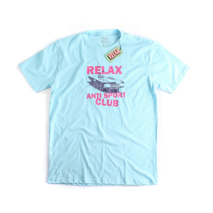 CAMISETA RELAX ANTI SPORT OLD CAR AZUL