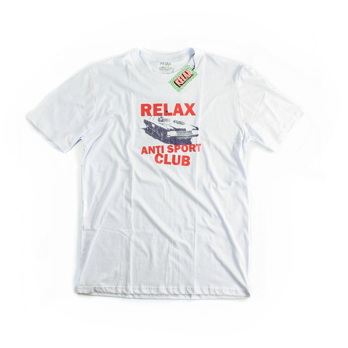 CAMISETA RELAX ANTI SPORT OLD CAR BRANCA