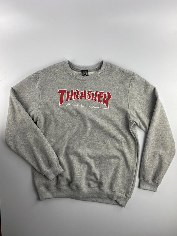 MOLETOM THRASHER OUTLINED CREW