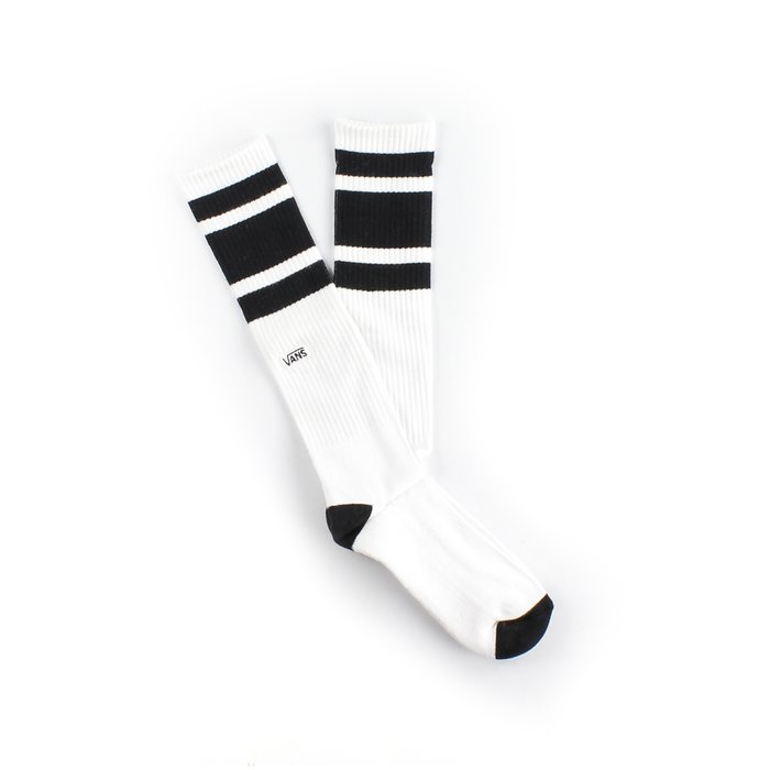 MEIA VANS STRIPE KNEE HI WHITE BLACK