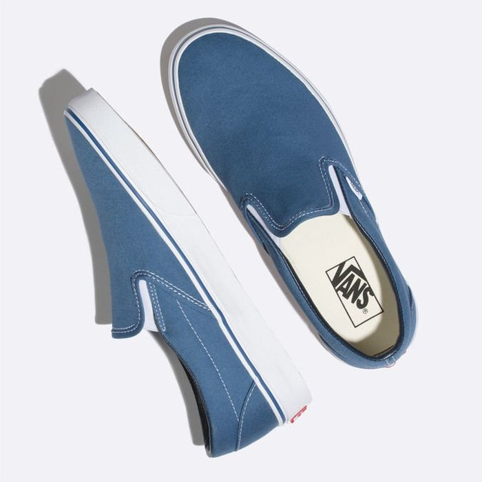 TÊNIS VANS SLIP-ON NAVY/WHITE
