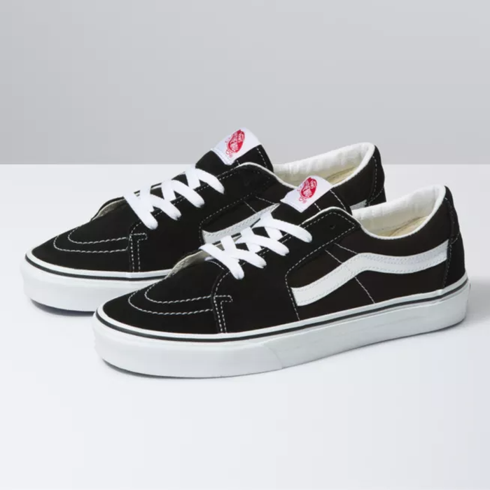 TÊNIS VANS SK8-LOW BLACK/TRUE WHITE