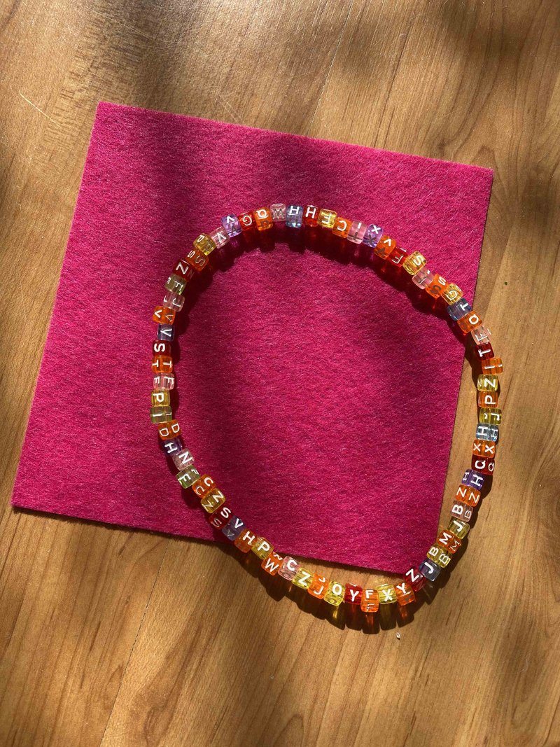 Choker Beads Candy Letters