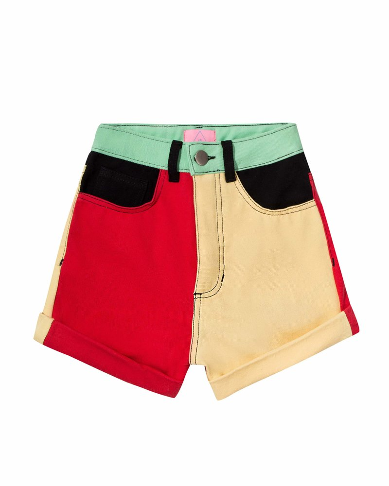 Short Jeans Colorblock