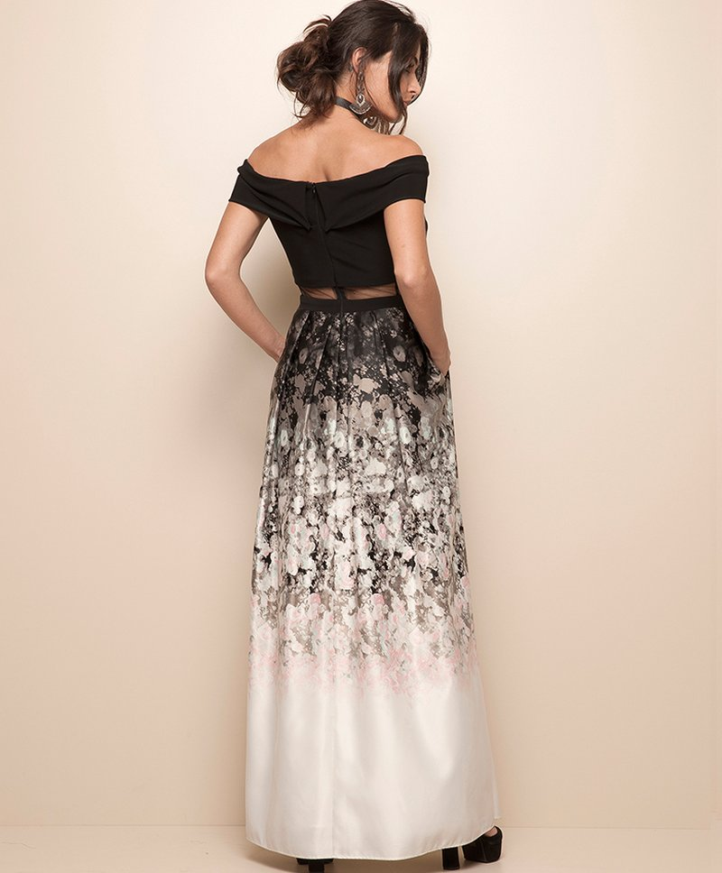 Vestido Wedding Day Black Crooped