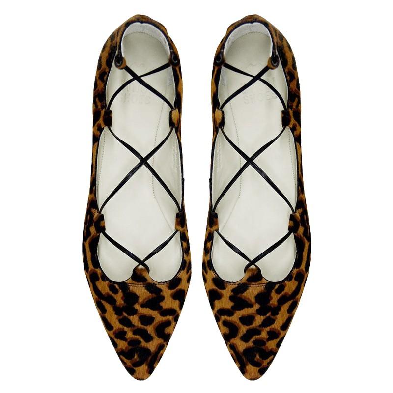 708edb4ec0 Sapatilha Lace Up Animal Print - Vinci Shoes