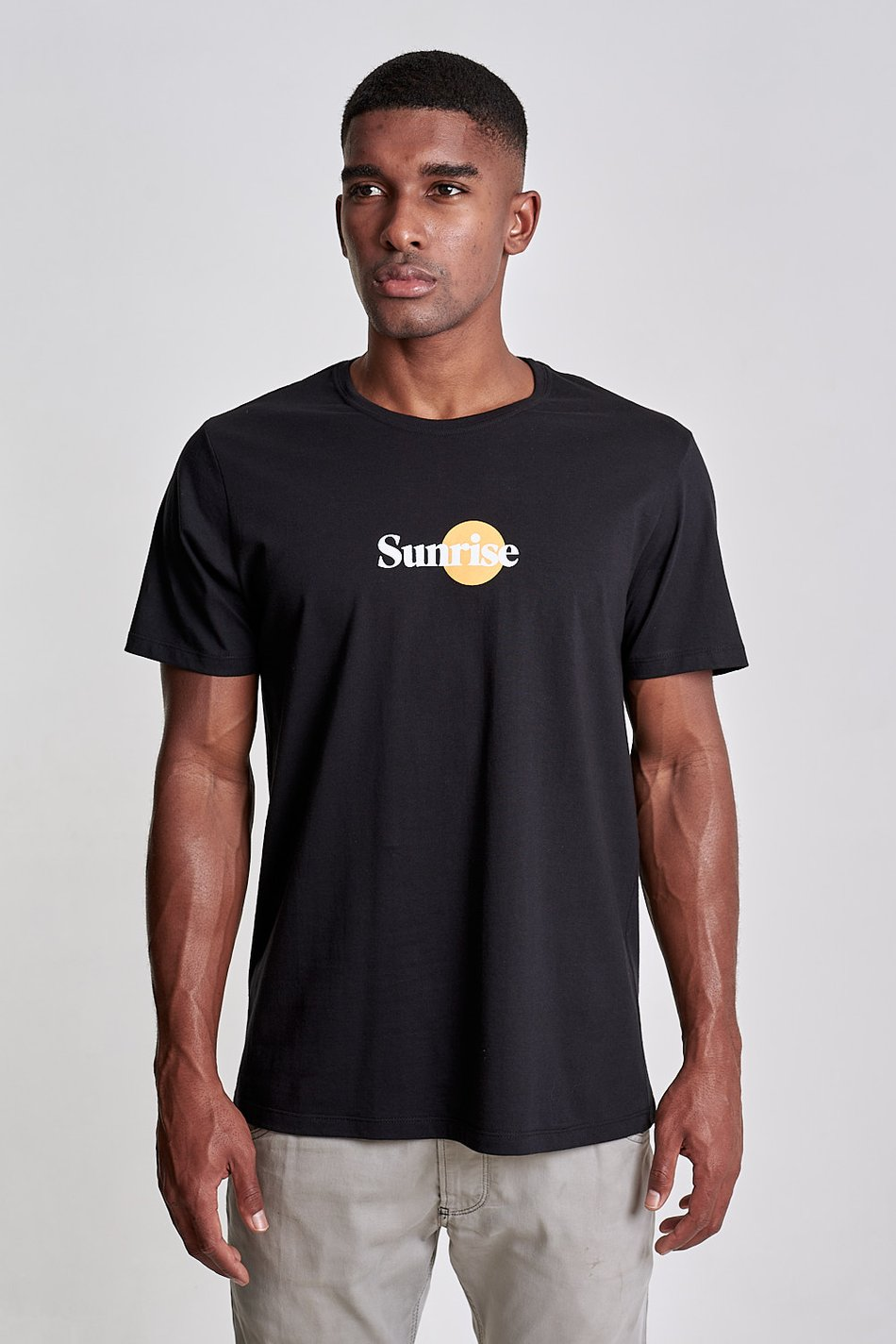 Camiseta Sunrise Preto Plain