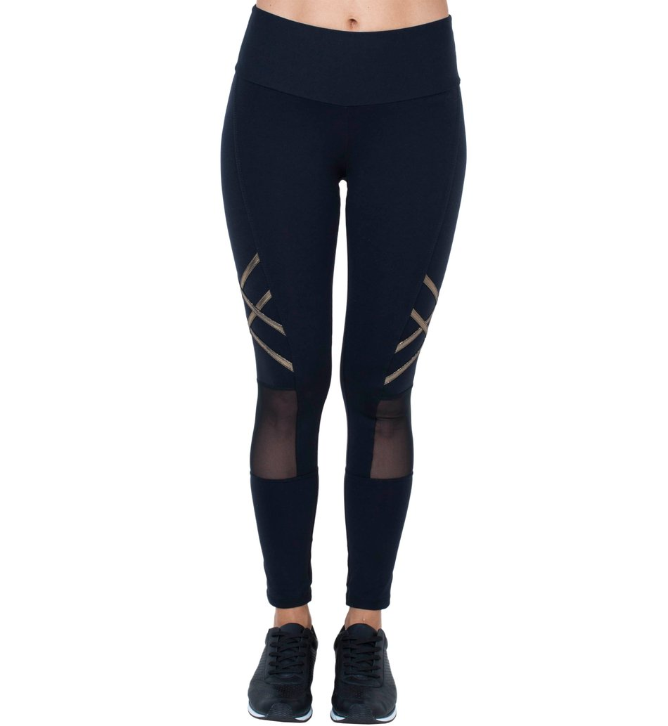 Legging Black Gold Tulle