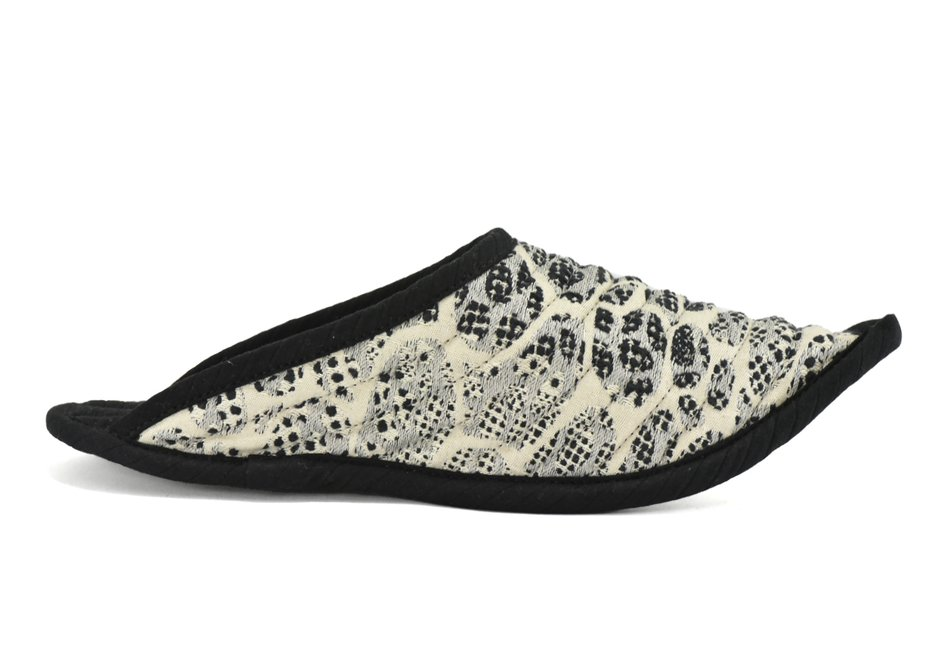 PANTUFA CREME PRETO|SLIPPER BLACK CREAM