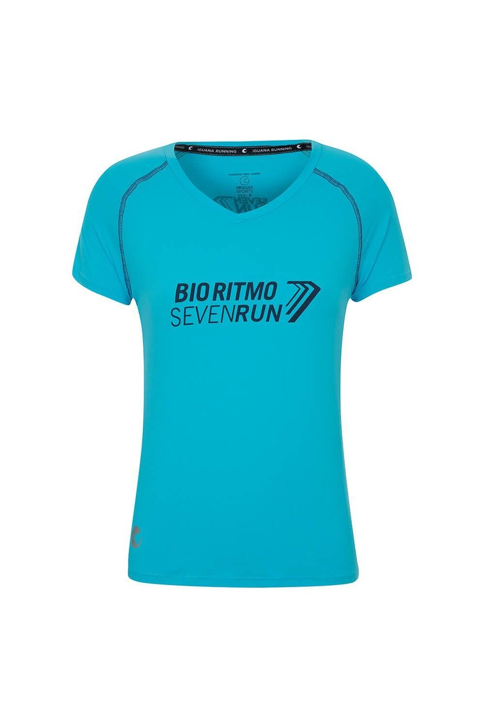 Camiseta  Seven Run Azul Fem