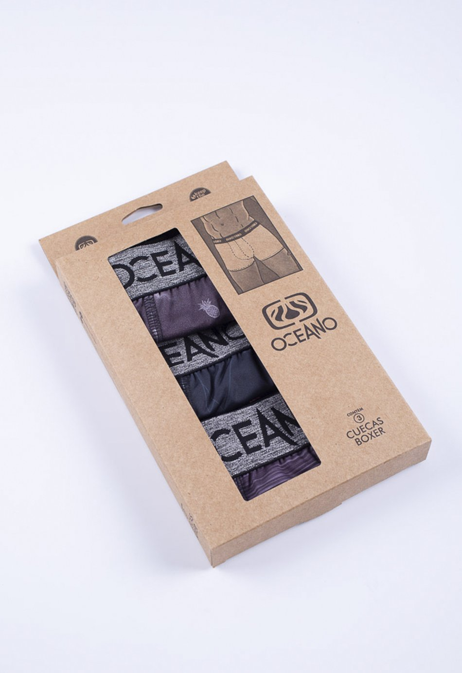 KIT 3 CUECAS BOXER ESTAMPADA