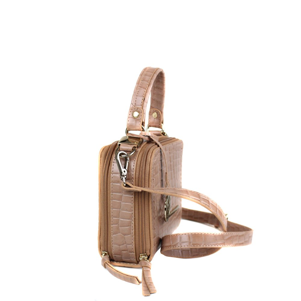 Bolsa Cristofoli Cross Body Terracota