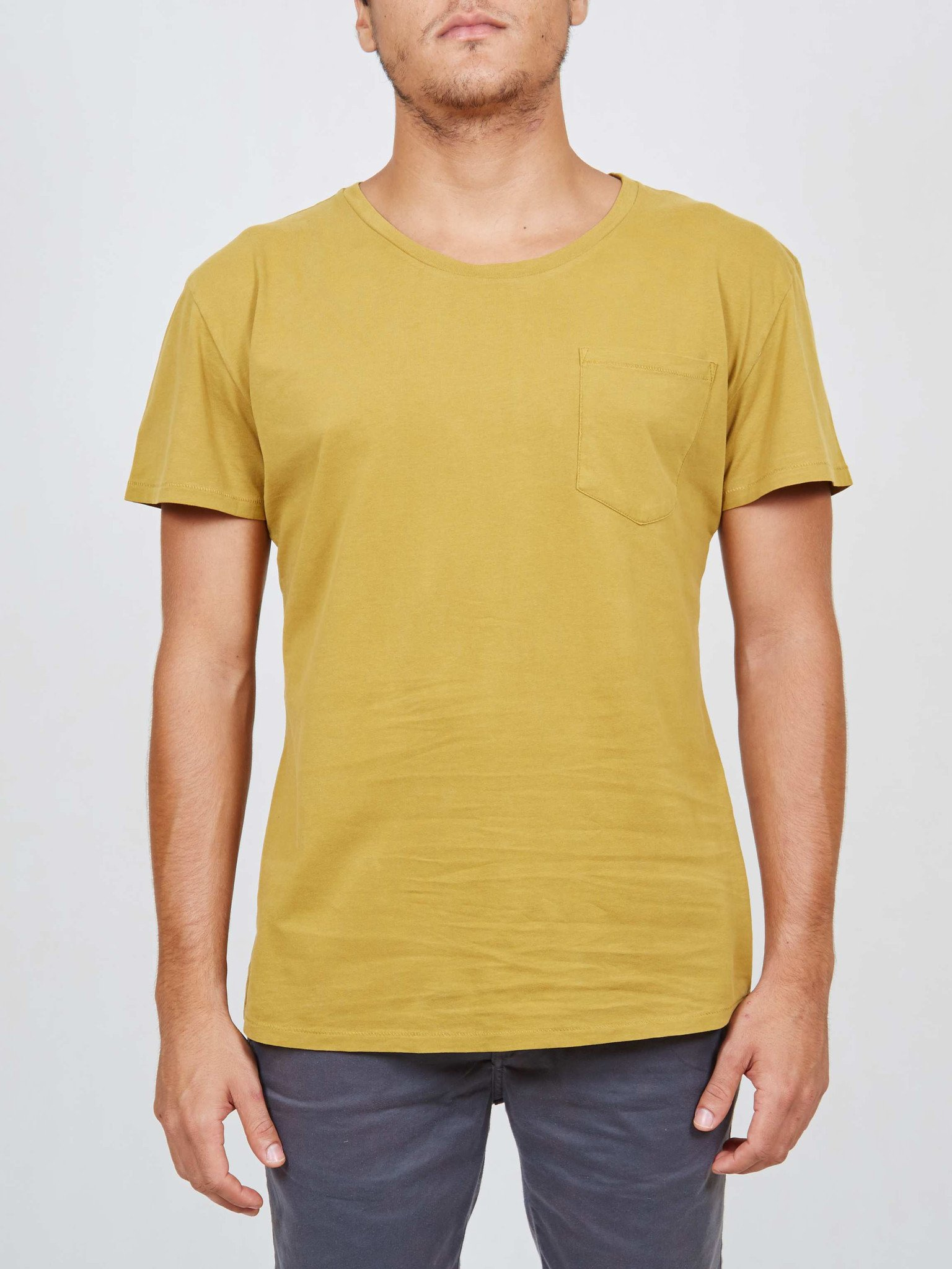 Foto do Camiseta Cotton Project Essential with Pocket Mostarda