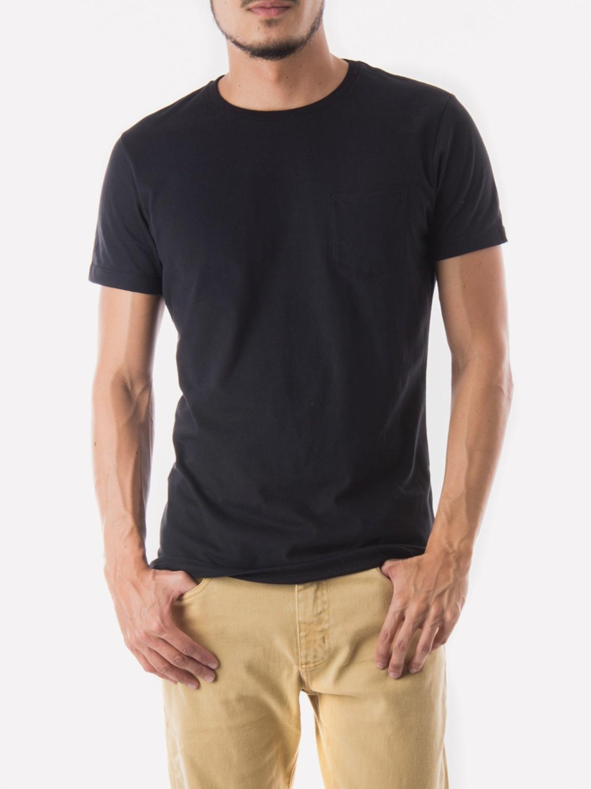 6caf64b3a0ebc Foto do Camiseta Essencial Oriba com Bolso - Preto