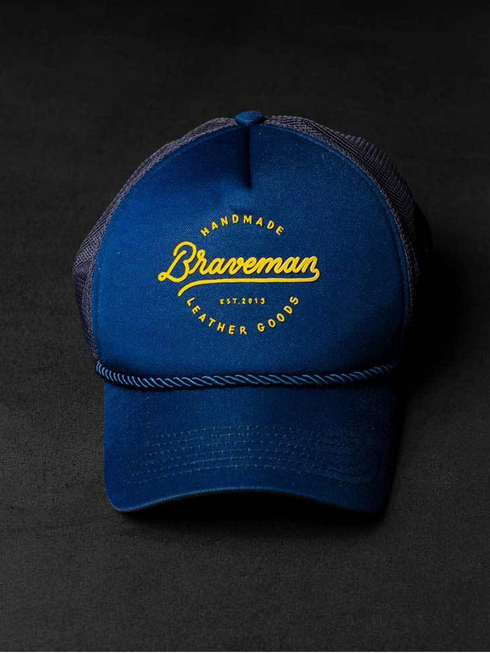 Foto do Boné Braveman TRUCKER LETTERING BLUE
