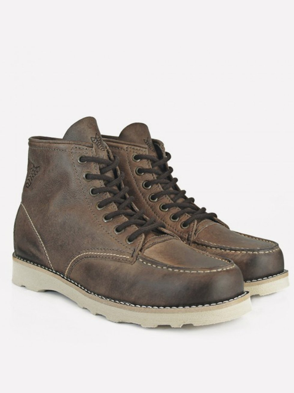 Foto do BOTA BLACK BOOTS MOC TOE GRAXO CAFE
