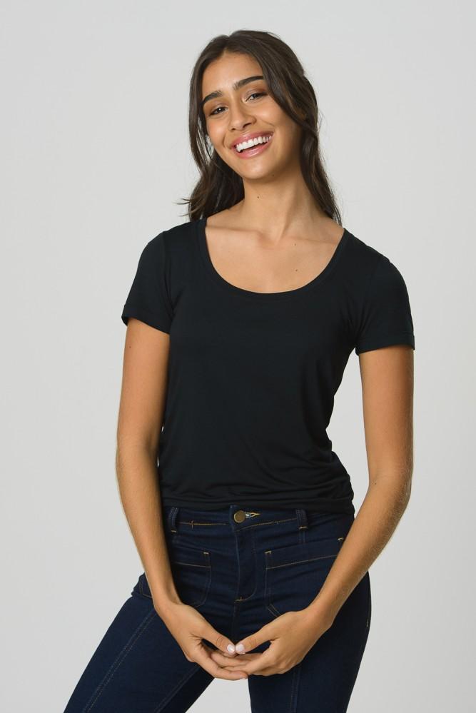 T-Shirt Gola U Modal - Preta