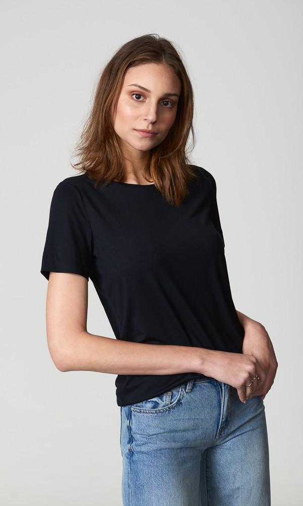 T-Shirt Gola Careca - Modal - Preta